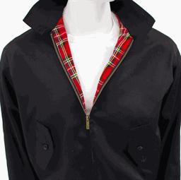 Punk jackets punk coats for Veste noir interieur ecossais