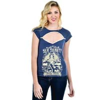 Blair Top by Too Fast Clothing/ Banjo & Cake - Sea Shanty - SALE sz S only