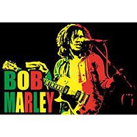 Bob Marley- Live on a Velvet Blacklight Poster