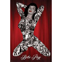 Bettie Page- S&M Collage poster