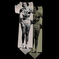 Tattooed Lady Tie by Se7en Deadly - in Beige