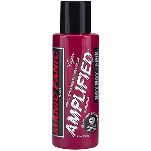 Manic Panic AMPLIFIED dye- Hot Hot Pink (Glows Under Black Light!)  (Lasts 30% Longer) (Sale price!)