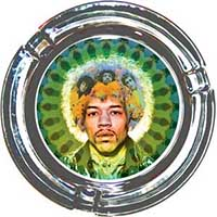 Jimi Hendrix- Face Ashtray (Glass)