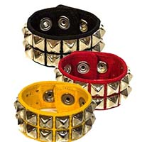 Canvas 2 Row Pyramid Bracelet by Funk Plus