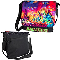 Mars Attacks Mini Messenger Bag by Kreepsville 666 - SALE