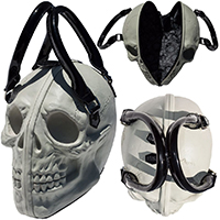 Skull Collection 3D Handbag Bag by Kreepsville 666 - Natural Glow in the Dark