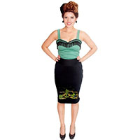Cactus Pencil Skirt by Dressed To Kill - SALE sz S & XL only