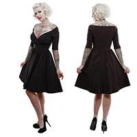 Loren Off Shoulder Bengaline Dress by Lucky 13 - in Black