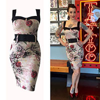 Love Darling Dress by Switchblade Stiletto - Tattoo Flash Print