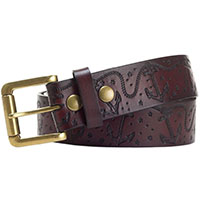 Anchors embossed belt by Sourpuss - in brown - SALE