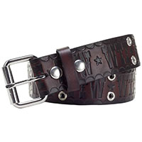 FTW / WTF embossed belt by Sourpuss - in brown - SALE