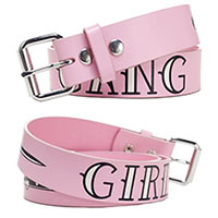 Girl Gang belt by Sourpuss - in pink - SALE - XL only