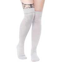 Foldover Socks by Sourpuss - in gray - SALE