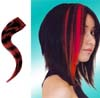 Human Hair Glam Strip by Manic Panic- Black With Vampire Red Savage Tiger Stripe - SALE