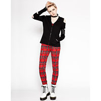 Girls Red Plaid Thermal Jogger by Tripp NYC - SALE