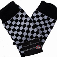 Socksteady 2 Pack Of Socks by Warrior Clothing- Two Tone Checkered