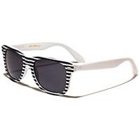 Sunglasses- WHITE & BLACK STRIPE