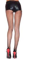 Backseam Fishnet Panty Hose - Plus Size - choose red or black
