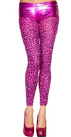 Leopard Print Opaque Hot Pink Leggings
