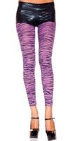 Zebra Print Opaque Purple Leggings