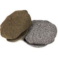 Herringbone Newsboy Hat (Wool) by New York Hat Co.