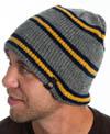 Dickies- Reversible Stripe Beanie in NAVY / GOLD (Sale price!)