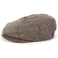 Brood Hat by Brixton- Grey/Gold Tweed (Sale price!)