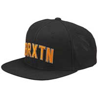 Hamilton Snap Back Hat by Brixton- BLACK (Sale price!)