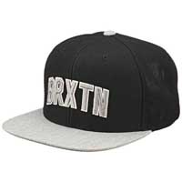 Hamilton Snap Back Hat by Brixton- BLACK / HEATHER GREY (Sale price!)