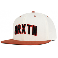 Hamilton Snap Back Hat by Brixton- WHITE / BURNT ORANGE (Sale price!)