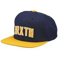 Hamilton Snap Back Hat by Brixton- NAVY / GOLD (Sale price!)