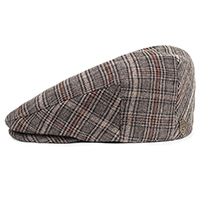 Hooligan Hat by Brixton- DARK BROWN PLAID (Sale price!)