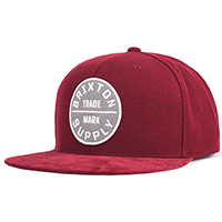 Oath III Snap Back Hat by Brixton- BURGUNDY (Sale price!)
