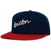 Robinson Flat Brim Hat by Brixton- NAVY/RED (Sale price!)