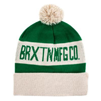 Fairmont Beanie by Brixton- KELLY GREEN / CEMENT (Sale price!)