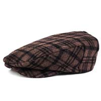 Barrel Driver Hat by Brixton- Taupe/Brown Plaid (Sale price!)