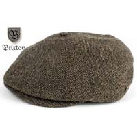 Brood Hat by Brixton- Brown/Khaki Herringbone