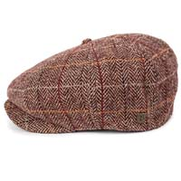 Brood Hat by Brixton- Maroon/Tan Plaid (Sale price!)