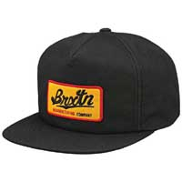 Collin Snap Back Hat by Brixton- BLACK (Sale price!)