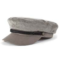 Fiddler Hat by Brixton- Grey Corduroy (Sale price!)