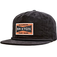 Fuel Corduroy Snap Back Hat by Brixton- BLACK (Sale price!)