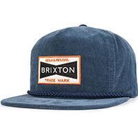 Fuel Corduroy Snap Back Hat by Brixton- SLATE BLUE (Sale price!)