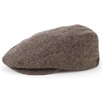 Hooligan Hat by Brixton- BROWN / KHAKI HERRINGBONE