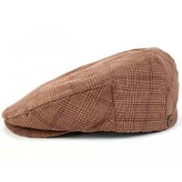 Hooligan Hat by Brixton- Brown/Tan Plaid (Sale price!)