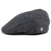 Hooligan Hat by Brixton- GREY / BLACK HERRINGBONE