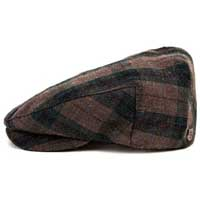 Hooligan Hat by Brixton- Teal Plaid (Sale price!)
