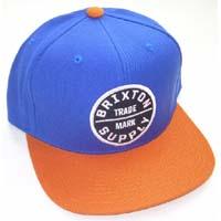 Oath Snap Back Hat by Brixton- ROYAL / ORANGE (Sale price!)