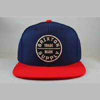 Oath Snap Back Hat by Brixton- ROYAL / RED (Sale price!)