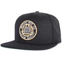 Pledge Snap Back Hat by Brixton- BLACK (Sale price!)
