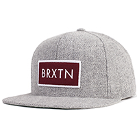 Rift Snap Back Hat by Brixton- GREY (Sale price!)